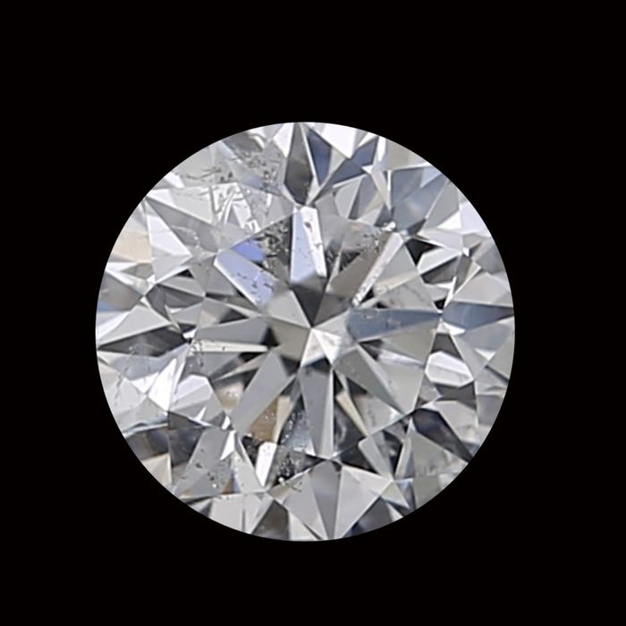 1 pcs Diamant - 0.60 ct - Rond - D (incolore) - SI2