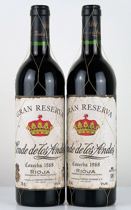 1968 Conde de los Andes Centenary Edition (bottled in 1996) - Rioja Gran Reserva - 2 Bottiglie (0,75 L)
