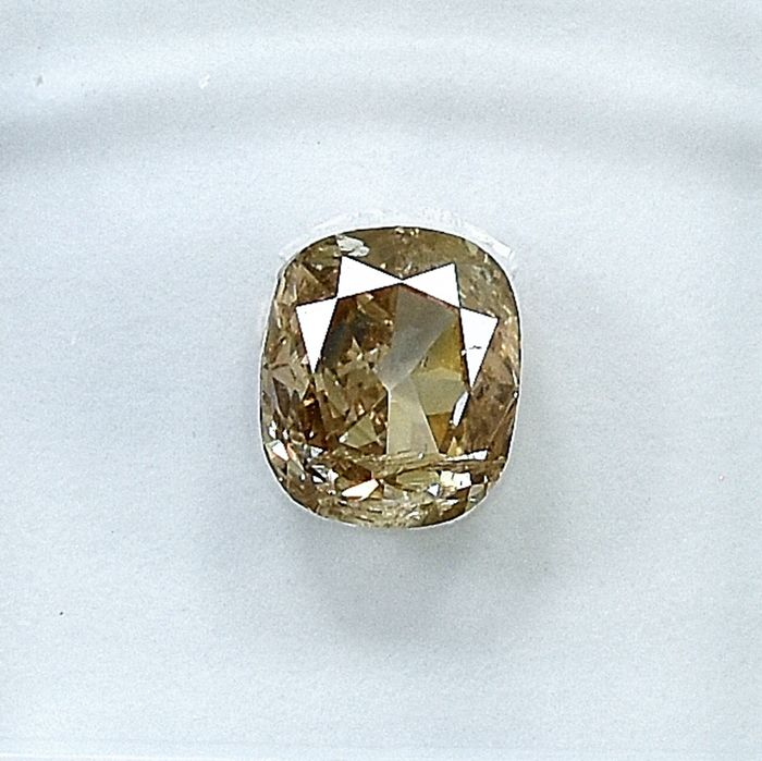 Diamant - 1.00 ct - Coussin - U-V, light brown - I1 - NO RESERVE PRICE