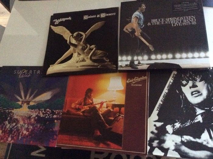 Bruce Springsteen & Related, Eric Clapton, Supertramp, Various Artists/Bands in Rock, Whitesnake - Différents artistes - Différents titres - Coffret, LP's - 1975/1986