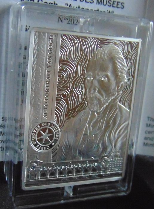 France - 10 Euro 2020 - Vincent Van Gogh rectangular with box, certificate, paper sleeve - Silver