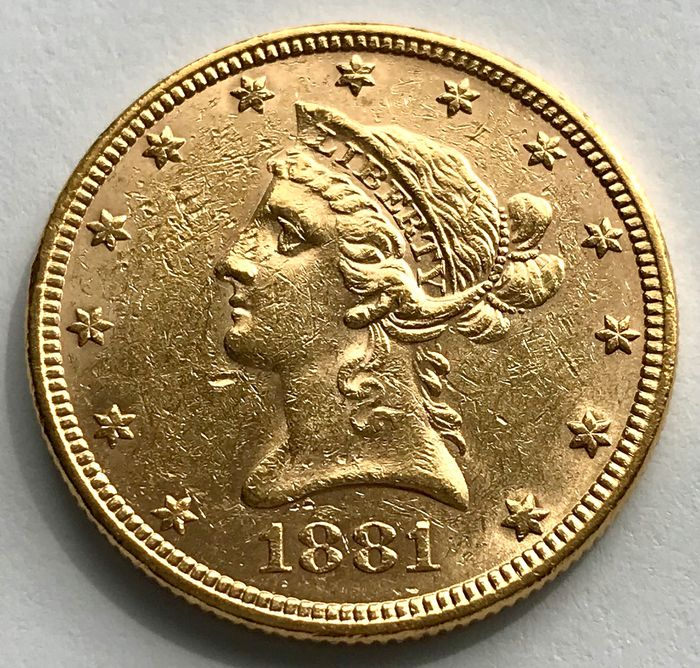 Verenigde Staten. 10 Dollars 1881 - Liberty Head