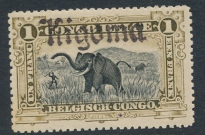 Belgisch-Kongo 1900/1921 - Mols issue - Lot of stamps cancellation / overprint KIGOMA - OBP / COB /