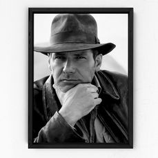 Indiana Jones - Harrison Ford - 1 - Photographie, Framed 70x50 cm. with Coa - nr 06/50