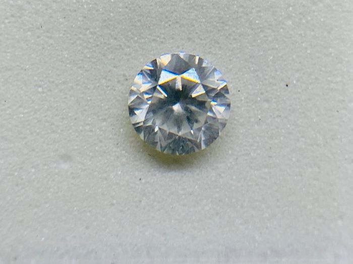 1 pcs Diamond - 0.49 ct - Brilliant, Round - G - SI1
