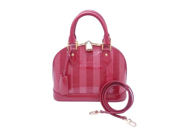 Louis Vuitton - Monogram Vernis Rayures Alma BB Shoulder bag