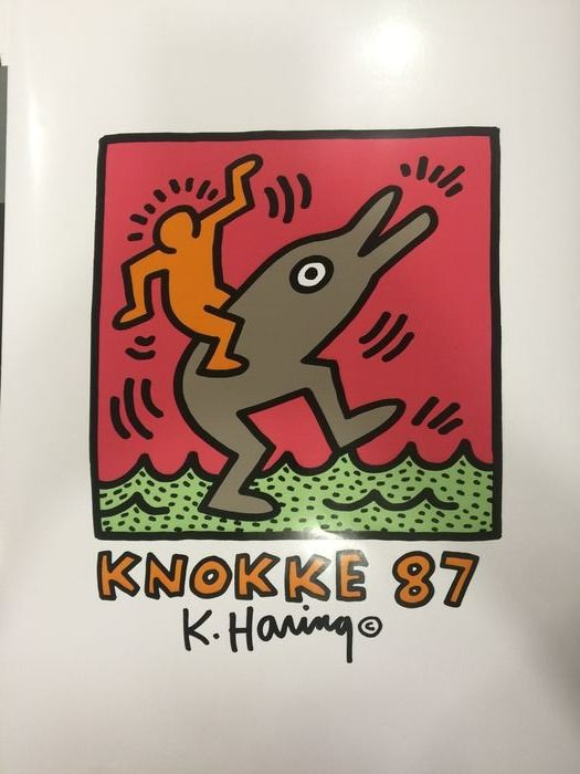 Keith Haring (after)  - Exposition Knokke - 1987 - Anni '80 - 1987