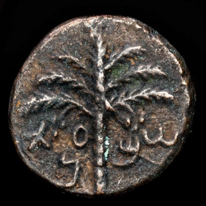 Judaea. Bar Kokhba Revolt. Æ 23,  undated, attributed to year 3 (AD 134/5) - For the freedom of Jerusalem