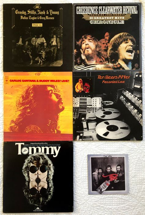 Creedence Clearwater Revival, Crosby, Stills, Nash & Young, Santana, Who, Ten Years After - Bands that preformed on Woodstock - Différents artistes - Différents titres - 5 Albums - 8 LP - 1 Single - 1972/1981