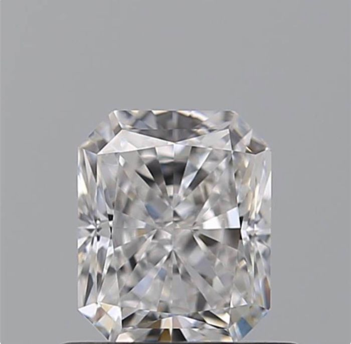 1 pcs Diamant - 0.80 ct - Radiant - D (farblos) - IF (makellos)