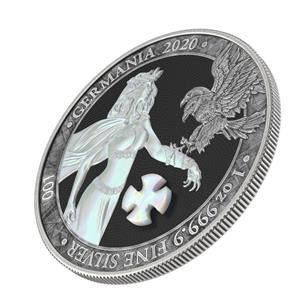 """Germania. 5 Mark 2020 """"GERMANIA PEARL CROSS""""   1 Oz Coin Numbered"""