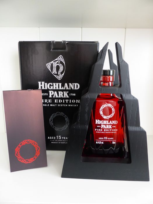 Highland Park 15 years old Fire Edition - Original bottling - b. 2016 - 700ml