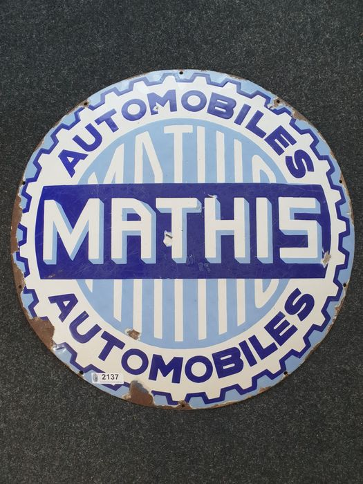 Sign - Mathis - 1930-1940
