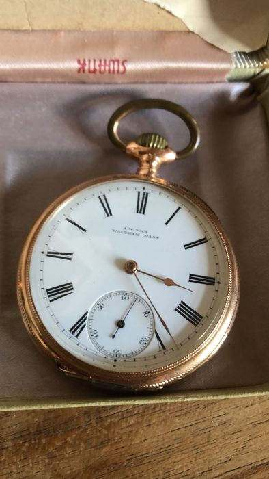 """Waltham A.A.W. co - """"Traveler"""" pocket watch NO RESERVE PRICE - Homme - 1901-1949"""