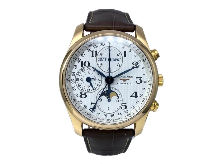 Longines - Master Collection Moonphase Chronograph 18K Gold - L2.673.8.78.3 - Herren - 2011-heute