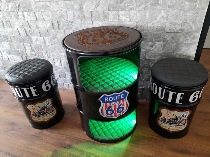 Decorative object - FURNITURE  Route 66 OIL Barrel Quality ! - Route 66 - After 2000