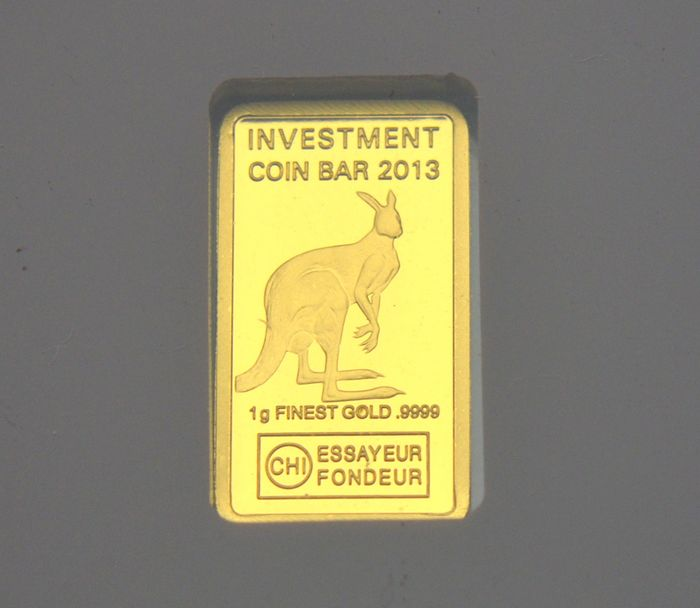 "Gabon. 3000 Francs 2013 ""Kangaroo"" Investment Coin - 1 gr"