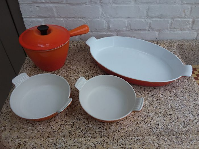 Set of 4 cooking pans (4) - Modern - IJzer (gegoten/gesmeed)