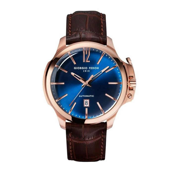 """Giorgio Fedon - Automatic Timeless VI Rose Gold Blue Dial - GFCE005 """"NO RESERVE PRICE"""" - Heren - 2011-heden"""