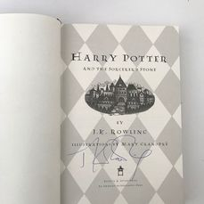 Signed, J. K. Rowling - Harry Potter and the Sorcerer's Stone  - 1998