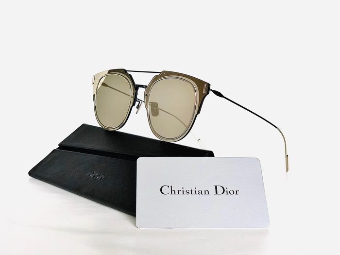 Christian Dior - DIORCOMPOSIT, SBW-Gold, Cat.*3, Full glass mirrored front, brand new & Unused designer Sunglasses