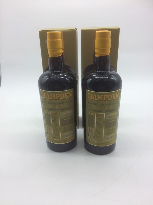 Hampden 8 years old - Pure Single Jamaican Rum - 70cl - 2 bottles