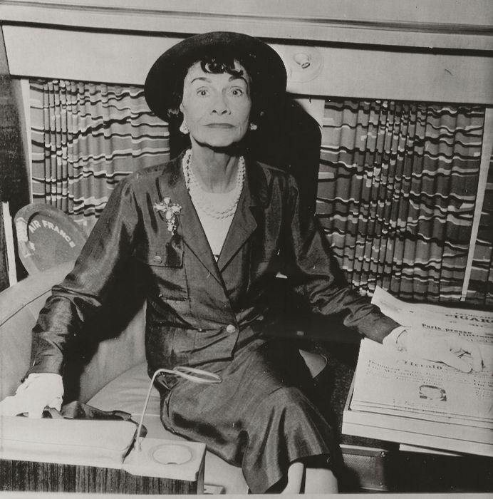 """Unknown / Associated Press Photos - Gabriel """"Coco"""" Chanel,French fashion designer,Paris Orly Airport, 1958"""