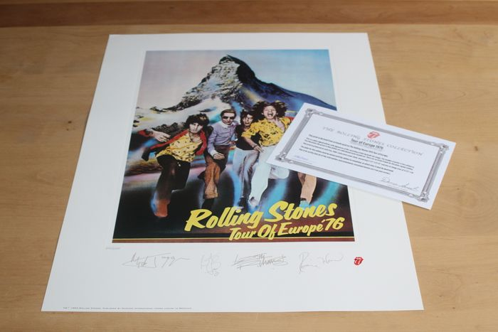 Rolling Stones - Limited Edition Lithograph - Europe 1976 - Litografia originale - 1994/1994