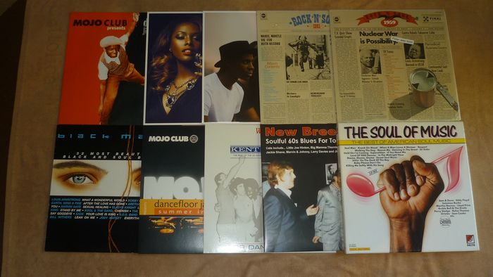 A great Collection of Soul - Différents artistes - 10 albums with Soul incl. Limited Edtion and exclusice available records - Différents titres - 2xLP Album (double album), 3xLP Album (Triple album), LP album - 1973/2017