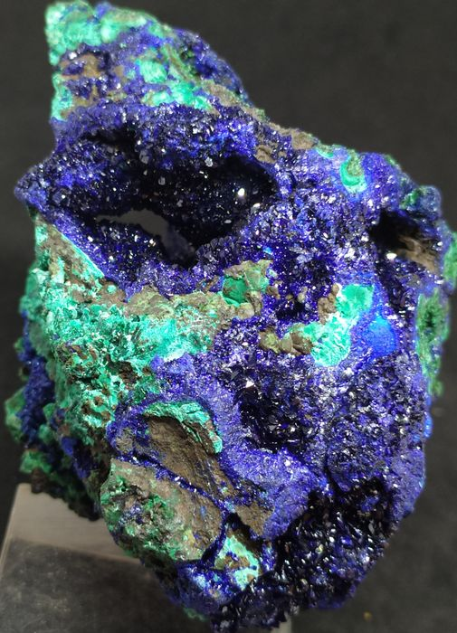 top quality, geoded and sparkling Azurite / Malachite, XXL - 93×58×83 mm - 442,6 g
