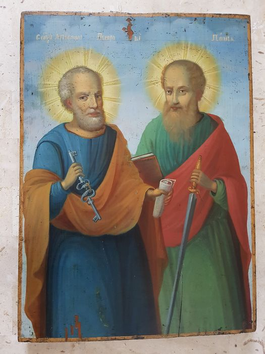 Icon, St. Peter and Paul - Wood - 19th century