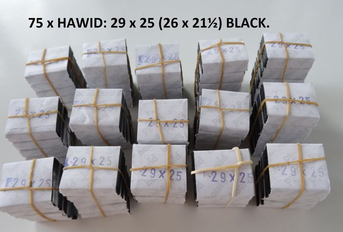 Accessories - Hawid - Batch with seventy-five Hawid packages, black, 26 x 21.5 mm