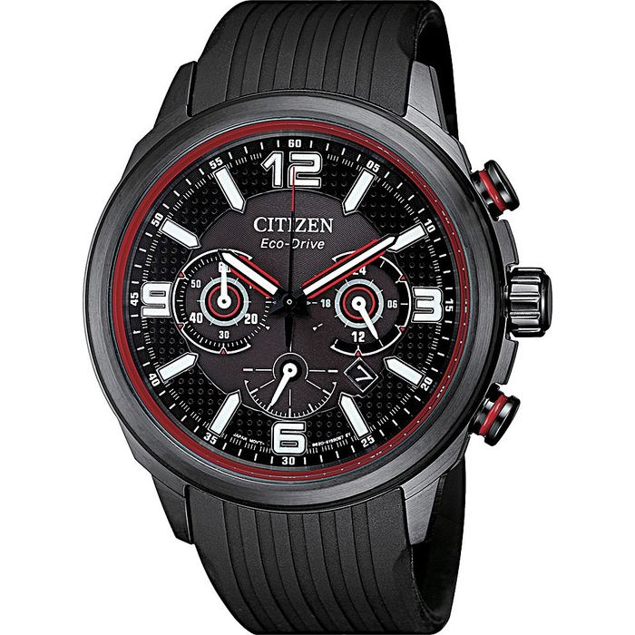 Citizen - Professional Crono Racing Sport - Black/Red - Uomo - 2020