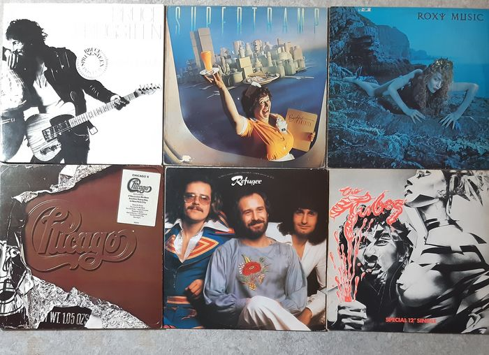 """Bruce Springsteen, Roxy Music, Supertramp, Chicago, Refugee, Tubes - Différents artistes - Différents titres - LP's, Maxi Single 12""""inch - 1974/1979"""