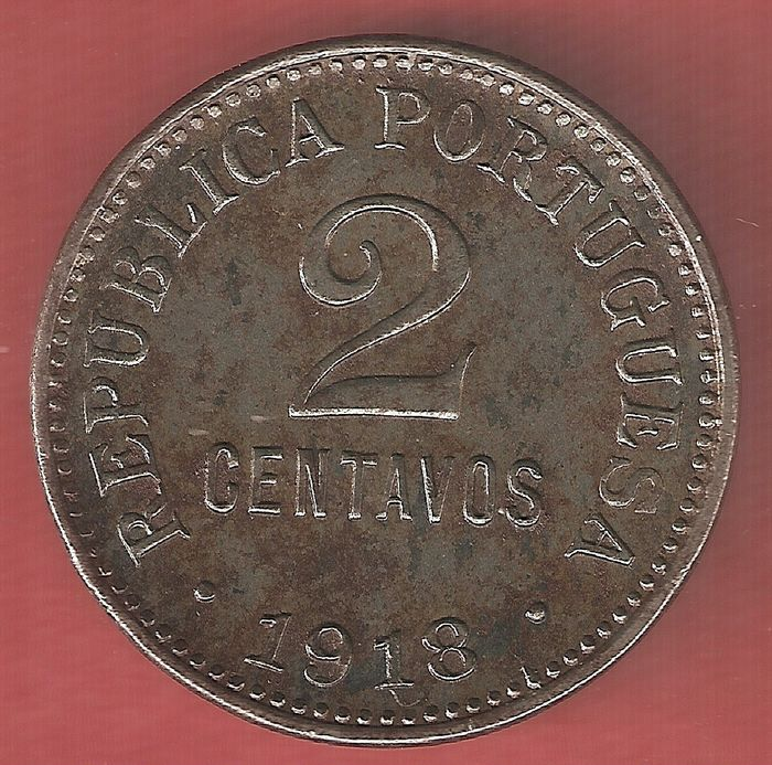 Portugal. Republic. 2 Centavos  1918 - Escasso