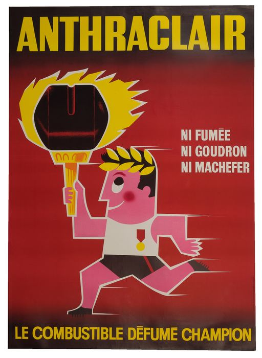 "Anonyme - ANTHRACLAIR. ""Le combustible défumé champion"" - 1950 - Anni '50"