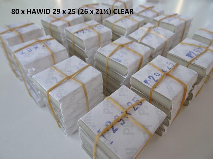 Tilbehør - Hawid - Batch with eighty Hawid packages, clear as glass, 26 x 21.5 mm