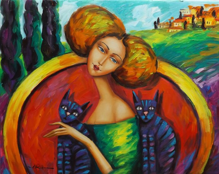 Alicja Ressa - Alice with cats