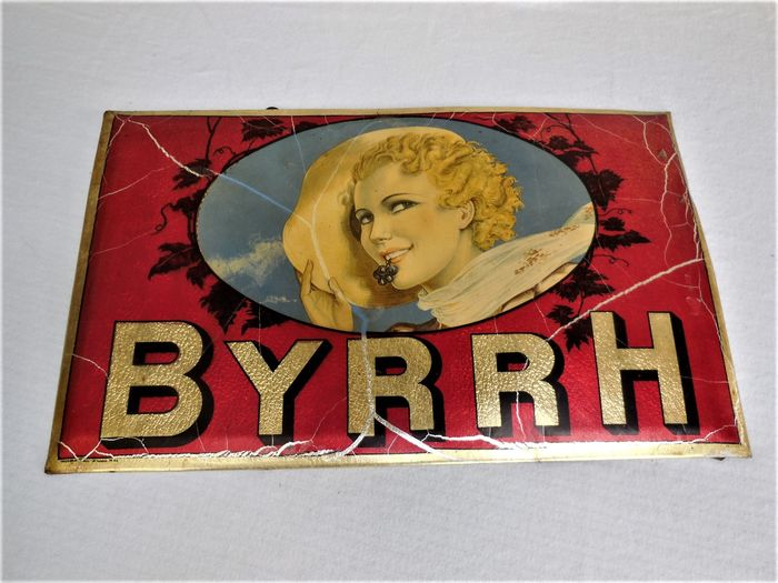 Modern Email B Voltaire Paris - Byrrh - Advertising sign / advertising sign (1) - Art Deco - Enamel and tin