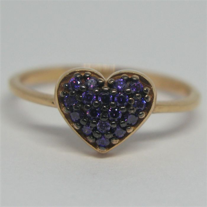 18 kt. Pink gold - Ring - 0.36 ct Amethyst