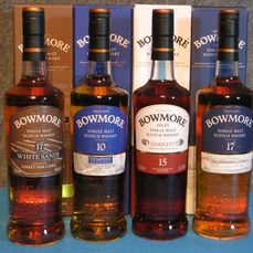 Bowmore 17 years White Sands - Tempest Batch 5 - 17 year sold - 15 years old Darkest - 700ml - 4 flessen