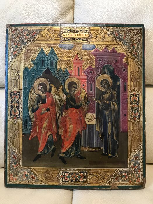 Icon, The Annunciation - Tempera on wood - Late 19th century