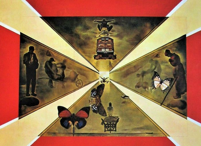 Salvador Dali - S.N.C.F. / Butterfly suite, complete suite of 6
