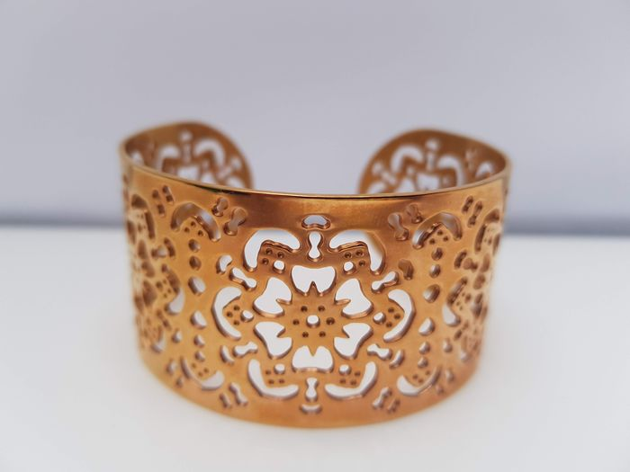 Ralph Lauren - rose gold plated filigree wide cuff Brazalete