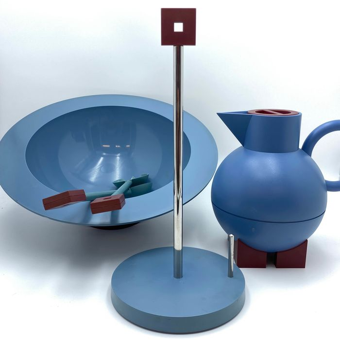 Michael Graves - Alessi - Thermos, salad set & kitchen roll holder (3) - Euclid, 1st Serie