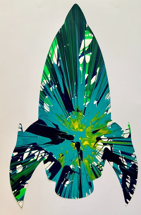 Damien Hirst (after)  - Rocket - Spin Painting (created at the Pinchuk Art Centre)