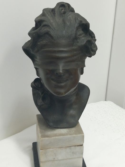 Sculpture, Lady Luck (1) - Bronze - Mid 20th century