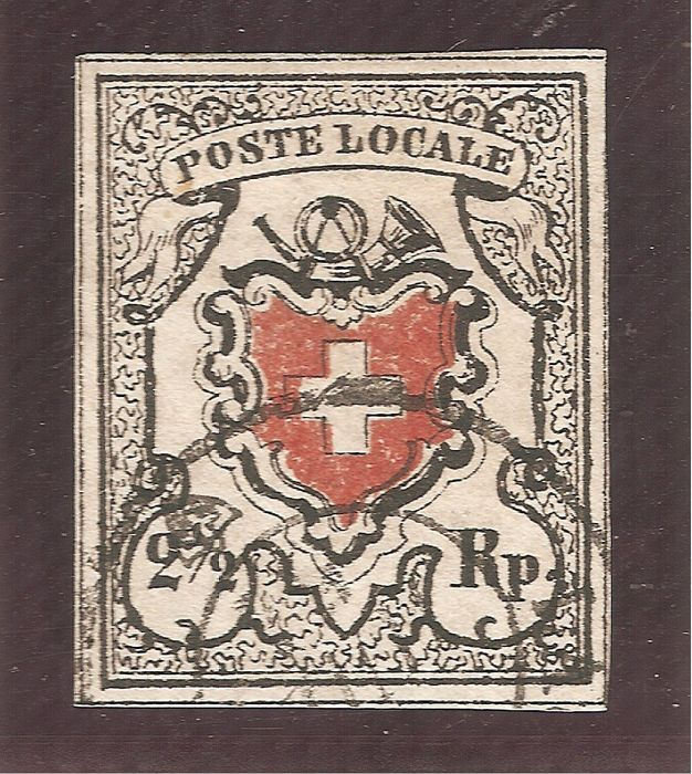 Schweiz 1850 - Local post, type 39, Lausanne. - Zumstein 14I / Michel 6I
