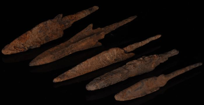 Viking Iron Collection of Five Arrowheads