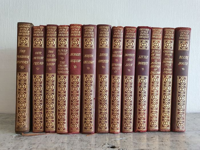 Charles Dickens - 13 Volumes from the The Oxford India Paper Dickens - 1901/1902